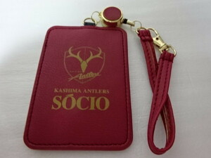 Immediate decision Kashima Anthlers 2019 Socio Socio IC Card Case One Touch Pass Case Ticket Case Red Red