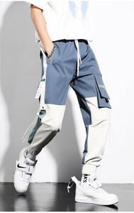 ☆新作 カーゴパンツ メンズ ワークパンツ ミリタリーパンツ ワークパン チノパン カラーパンツポケット ボトムス 色切替 S-2XL 作業服