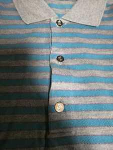 幻 ルイヴィトン シルバーモノグラムボタン半袖ポロシャツ モノグラムポロシャツ ボーダーポロシャツ モノグラムシャツ 顧客