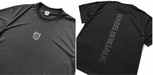 新品 バスブリゲード 【 ドライビッグTシャツ / ブラック/ブラック L 】 SHIELD BB DRY BIG TEE BRDG デプス drt2107