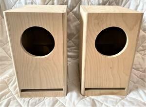 高音質フルレンジParcAudioDCU-F121W 10cm ウッドコーンペア スピーカーボックス 組立済みエンクロージャー 自作,DIY バーチクル合板 ペ