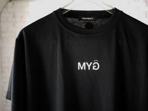 2021ss NY購入/L/BLACK/'CAMPIONE MIXED' and GYM Short Sleeve Top/ジム/ランニング/トレーニングトップス