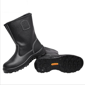 人気新品**釘踏み抜き防止 本革 ワーク シューズ 安全靴 鋼鉄先芯 防滑 作業ブーツ 黑色 サイズ 23.5cm~27.5cm