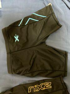 2XU メンズ タイツ Lブルー 青 コンプレッションウェア マラソン ランニング ジョギング トレーニング ジム