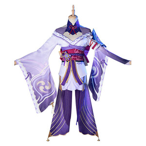 原神 げんしん 稲妻 雷電将軍 雷神バアル らいでん しょうぐん Raiden Shogun 風 コスプレ衣装 cosplay コスチューム 変装 仮装 ハロウィ