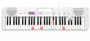 CASIO カシオ 120曲内蔵 400音色 光ナビゲーション キーボード LK-315 マイク、楽譜集、歌詞集付属