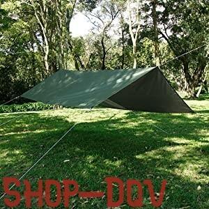 【コスパ良し】 3×3m タープ 高品質 300Dポリエステル 99.9%UVカット 耐水圧3000mm 防水 キャンプ ツーリング テント アーミーグリーン