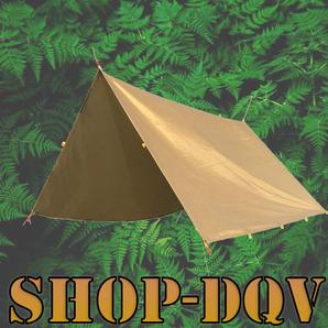 3×3m タープ カーキ 防水 UVカット ソロ キャンプ テント ツーリング 日除け 紫外線カット 超軽量 コンパクト サンシェード
