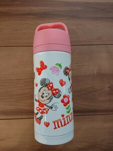 ディズニー ミニーマウス持ち手付きステンレスボトル タンブラー