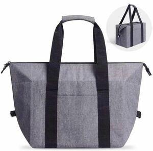 保温保冷バッグ 大サイズ グレー 大容量 黒 肩掛け 2way エコバッグ トートバッグ 買い物バッグ
