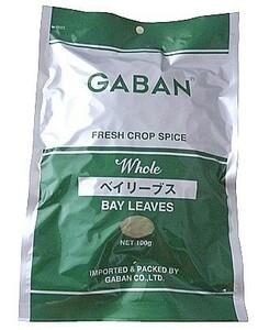 GABAN ベイリーブス(ホール) 100g×10袋   【スパイス ハーブ ハウス食品 香辛料 業務用 月桂樹の葉】
