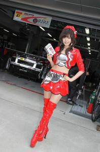 高品質生地 SUPER GT 2011 第2戦 富士 レースクイーン コスプレ衣装「靴 別売り」の商品画像