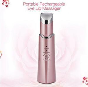 目元美顔器 アイマッサージャー 肌ケア 美容機器 イオン導入 温熱 振動 クマ シワ 血行促進 ローズ|a