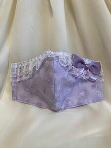 立体インナー ルシアン ロココ&スウィート 薔薇柄 小花柄 薄紫 ラベンダー ギャザーレース リボン