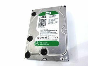 099●WD HDD 内蔵ハードディスク 3.5インチ 2TB Green WD20EZRX-00DC0B0 / SATA 6Gb/s ※中古