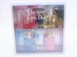 168s/ ChristianDior クリスチャンディオール トラベルコレクション In love with Dior ミニ香水 7.5ml×4本セット ほぼ満量 ※中古