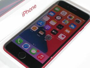 111s●au iPhone SE (第2世代) 64GB (PRODUCT)RED MHGR3J/A (後期パッケージ) バッテリー最大容量:100% ※中古/利用○
