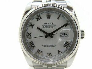 171s ROLEX ロレックス デイトジャスト 116234 ホワイトローマン SS/WG ランダム