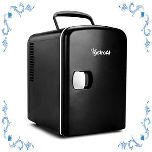 【配送無料】 AstroAI/冷蔵庫/小型/ミニ冷蔵庫/小型冷蔵庫/ 保温 ゼント日本語説明書//便利な携帯式 ブラック