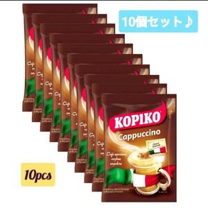 匿名配送 KOPIKO 3in1 Coffee Cappuccino カプチーノ コピコ 珈琲 ミルク 砂糖 インスタントコーヒー
