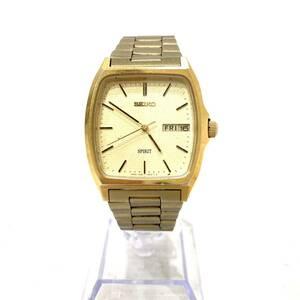 SEIKO セイコー SPIRIT クオーツ 7N48-5000 ゴールド 金 未稼働 メンズ腕時計(AX19)