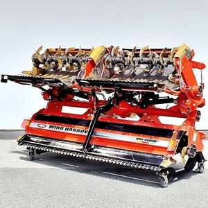 【群馬】ニプロ ウイングハロー WMD4400N 無線 リモコン 約4.4m 中古 倉庫保管 ウィングハロー トラクター 折り畳み 折りたたみ 油圧 電動
