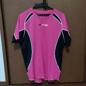 メンズ Tシャツ スポーツウェア ランニング 運動 汗吸収 ピンク