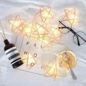 フェアリーライト ワイヤー星形 ガーランド LED 結婚式 キャンプ