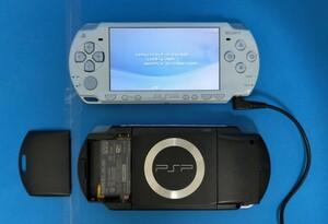 PSP 本体 【※バッテリーなし】1000(BK)2000 (FB)2個 セット
