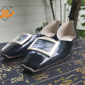 シンプル 柔らかい底 女性靴 ローヒール靴 パンプス