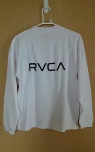 RVCA ルーカ ロングスリーブ 長袖 Tシャツ ロンT バックプリント USサイズS 日本サイズL 未使用 正規品 送料無料 ルカ 白 ホワイト