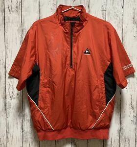 【le coq sportif GOLF】 ルコックゴルフ メンズ 中綿 半袖ハーフジップジャケット Mサイズ 赤