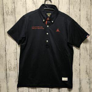 【le coq golf】ルコック ゴルフ 半袖 ポロシャツ メンズ M ネイビー 送料無料!