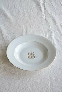 フランス リモージュ ディナープレート /アンティークブロカントビンテージ蚤の市雑貨小物ヨーロッパインテリア食器