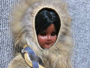 【年代物 スリーピングアイ 人形】Carlson dolls 防寒服 女の子 本革 レザー 民族衣装 珍品 出品リストで検索!3点以上で送料無料!