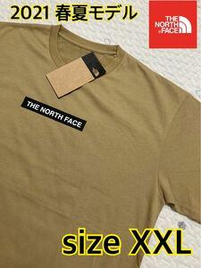 【新品】THE NORTH FACE ノースフェイス ボックスロゴ Tシャツ nt321001 ケルプタン ベージュ XXL