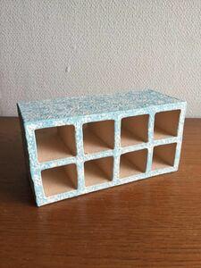 【送料込み】プレコ シェルター 8つ穴全て貫通タイプ 小さめ ブルー