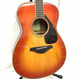 中古 YAMAHA ヤマハ アコースティックギター アコギ FS820 6弦 ブラウン系 ソフトケース付き 弦楽器 H15703