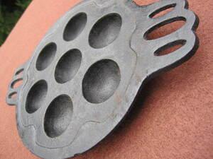 ☆ちいさな 南部鉄器 たこ焼き器 たこ焼きプレート(小型です)中古☆