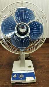 HK298 昭和レトロ 扇風機 MK 30㎝ TOSHIBA 東芝 アンティーク 通電&回転&簡易清掃OK 現状品 JUNK