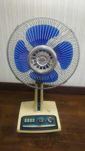 HK292 昭和レトロ 扇風機 H-30D13 30㎝ TOSHIBA 東芝 アンティーク 通電&回転&簡易清掃OK 現状品 JUNK