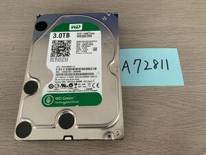 送料無料 Western Digital WD30EZRX Green 3TB 3.5インチ SATA HDD3TB 使用時間27653H★A72811
