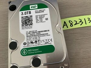 送料無料 Western Digital WD30EZRX Green 3TB 3.5インチ SATA HDD3TB 使用時間7834H★A82313