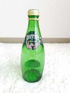 ☆美品perrier×MURAKAMIコラボ限定ペリエ×村上隆デザインボトル330mL空き瓶フラワー花カイカイキキ希少レア炭酸水ガラス瓶デコボトル☆