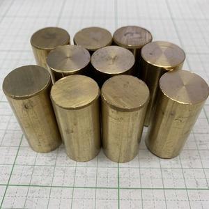 【10本セット】真鍮丸棒 φ19×40~42mm  真鍮棒 黄銅 端材 【レターパックライト発送 370円】