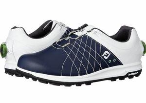 【未使用新品】 フットジョイFOOTJOY スパイクレス ゴルフシューズ 25.5cm / TREADS boa / ネイビー/新品人気のスパイクレス