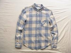 BEAMS B:ming 綿麻 ブロックチェック柄シャツ サイズ S