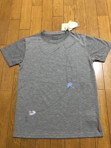 新品未使用スノーピークsnowpeak×nowartt ルアープリントTシャツ レディースサイズ2 限定品 グレー Sサイズ相当 アウトドア 吸水速乾