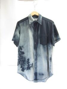 Y's Yohji Yamamoto ヨウジヤマモト 花プリント 半袖シャツ SIZE:L(3)メンズ 衣類 ▲UF3215