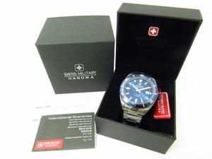未使用 SWISS MILITARY HANOWA スイスミリタリー ハノワ 06-5214.1.30.003 クォーツ腕時計♪AC20962